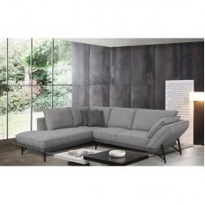 NEVIL Left Facing Corner Sofa Fabric Grey 1pcs