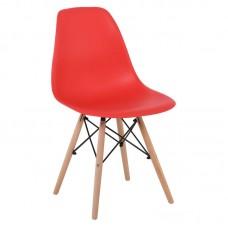ART Wood Chair PP Red 4pcs
