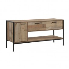 PALLET-W TV Board 2 Drawers/1 Door 124x40x60 Antique Oak 1pcs