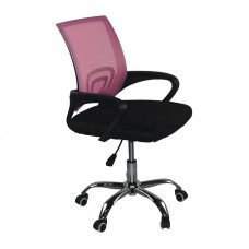 BF2101-F (without relax) Office Chair Chrome/Pink-Black Mesh (2pcs) 2pcs