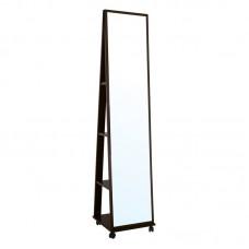 FISHER Floor Mirror 39x39x176cm Walnut 1pcs