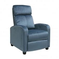 PORTER Armchair Relax Grey-Blue Velure 1pcs