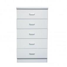 DRAWER 5-D. 60x40x97 White 1pcs