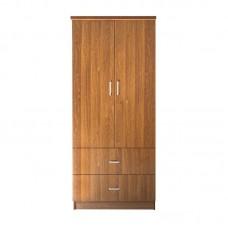 CLOSET Wardrobe 80x50x180cm Walnut 1pcs