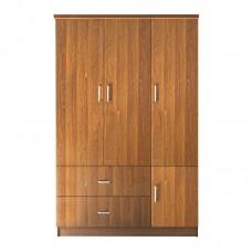 CLOSET Wardrobe 120x50x180cm Walnut 1pcs