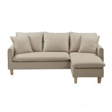 ELISA Reversible Corner Sofa Fabric Beige 1pcs