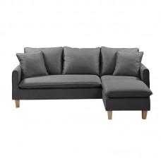 ELISA Reversible Corner Sofa Fabric Dark Grey 1pcs