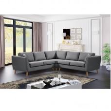 ATLANTIC Corner Sofa Fabric Grey 1pcs