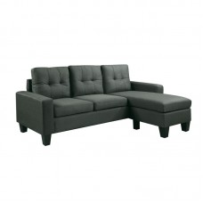 PORTO Reversible Corner Sofa Dark Grey Fabric 1pcs