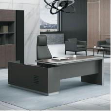 ADVANCE Desk Right 220x160cm Dark Walnut/Grey 1pcs