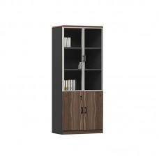 ADVANCE Bookcase Dark Walnut/Grey 1pcs