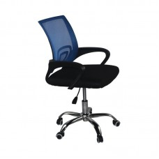 BF2101-F (without relax) Office Chair Chrome/Blue-Black Mesh (1pc) 1pcs