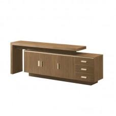 ALPINE Low Cabinet 220x40xΗ76cm Brown Oak 1pcs