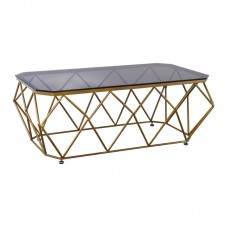ACTON Coffee Table 123x63 Metal Gold/Glass 1pcs