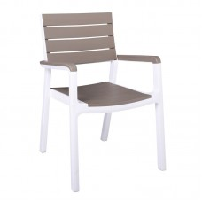 AIGLI Armchair PP White/Cappuccino 1pcs