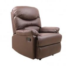 LUISA Armchair Relax Pu Brown 1pcs