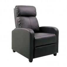 PORTER Armchair Relax Pu Black 1pcs