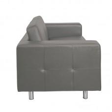 ALAMO 2-Seater Sofa Grey Pu 1pcs