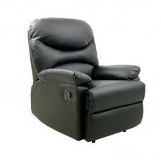 LUISA Armchair Relax Pu Black 1pcs
