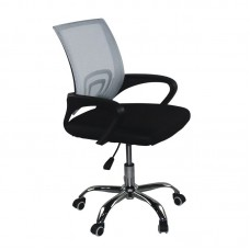 BF2101-F (without relax) Office Chair Chrome/Grey-Black Mesh (1pc) 1pcs