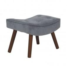ALMA Stool Walnut/Velure Grey (K/D) 1pcs