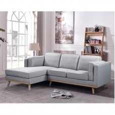 CHAMBER Right Corner Sofa / Fabric Light Grey 1pcs