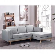 CHAMBER Left Corner Sofa / Fabric Light Grey 1pcs