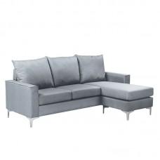 AVANT Reversible Corner Sofa Fabric Light Grey 1pcs