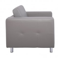 ALAMO Armchair Sofa Grey Pu 1pcs