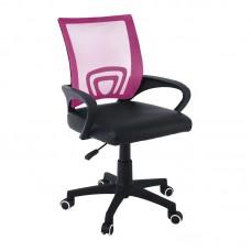 BF2101-P (without relax) Nylon Base Armchair Pink Mesh-Black Pu (1pc) 1pcs