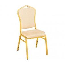 HILTON Alu Chair, Beige Fabric 1pcs