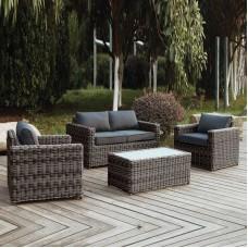 ARIZONA Set-2s Grey/Brown Wicker (Cushions Anthracite) 1pcs