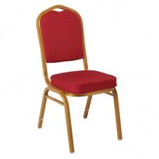 HILTON Banquet chair/Gold Metal Frame/Red Fabric 1pcs