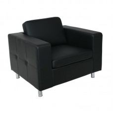 ALAMO Armchair Sofa Black Pu 1pcs