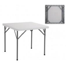 BLOW Catering Folding Table 86x86cm White 1pcs