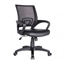 BF2101 (with relax) Office Armchair Black Mesh/Pu 1pcs
