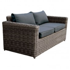 ARIZONA 2-Seater Grey/Brown Wicker (Cushions Anthracite) 1pcs
