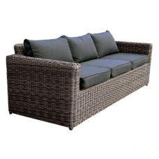 ARIZONA 3-Seat Grey/Brown Wicker (Cushions Anthracite) 1pcs