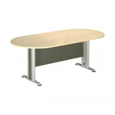 CONFERENCE Oval Table 180x90 DG/Beech 1pcs