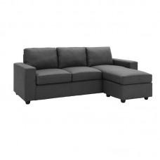 PORTLAND Reversible Corner Sofa Dark Grey 1pcs