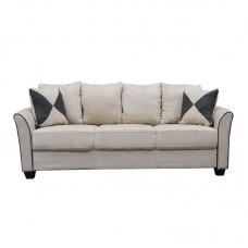 ASHLEY Sofa 3-Seater Fabric Sand 1pcs