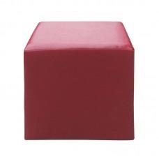 CLUB Stool Pu Red 37x37x42 1pcs