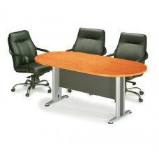 CONFERENCE Oval Table 240x120 DG/Cherry 1pcs