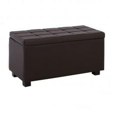 DENISE Storage Ottoman Pu Dark Brown 88x43x45cm 1pcs