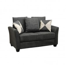 ASHLEY Sofa 2-Seater Fabric Anthracite 1pcs
