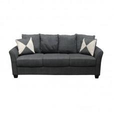 ASHLEY Sofa 3-Seater Fabric Anthracite 1pcs