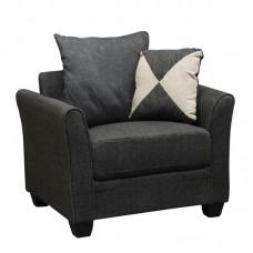 ASHLEY Armchair Fabric Anthracite 1pcs