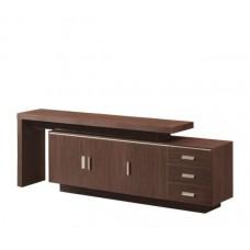 ALPINE Low Cabinet 220x40xΗ76cm Dark Walnut 1pcs