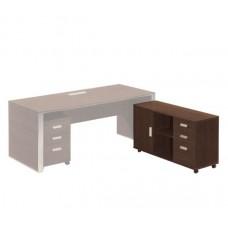 ALPINE Low Cabinet 120x40xΗ67cm Dark Walnut 1pcs