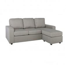 PORTLAND Reversible Corner Sofa Light Grey 1pcs